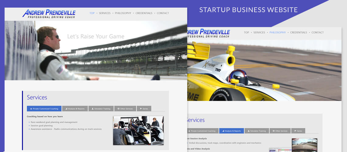 Andrew Prendeville - One-Page Responsive Business Website Design