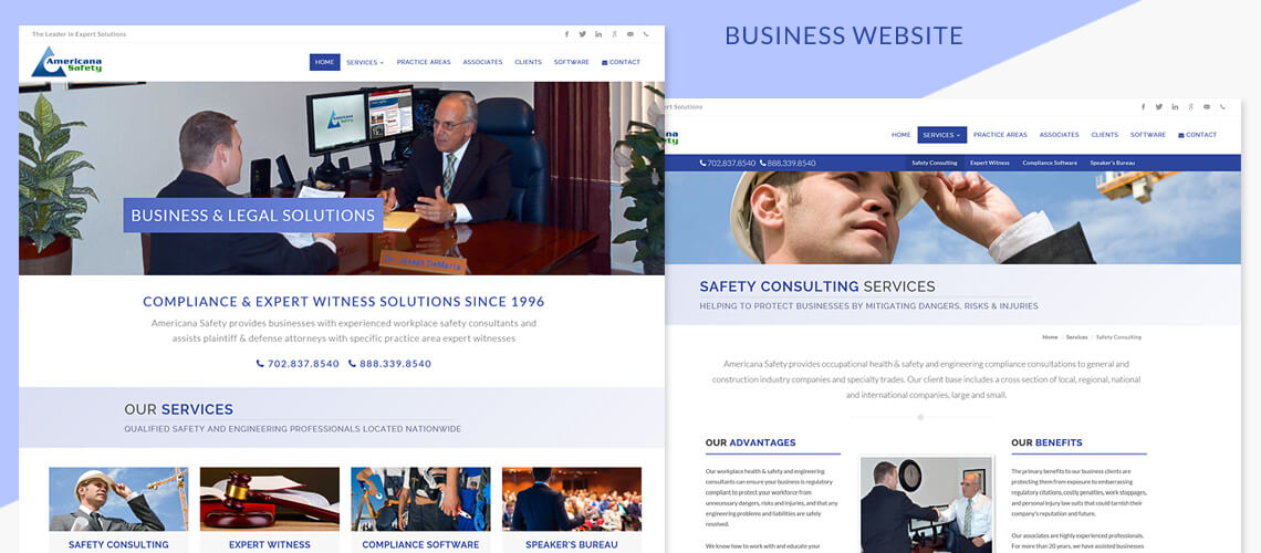 Americana Safety - Responsive Business Website Design