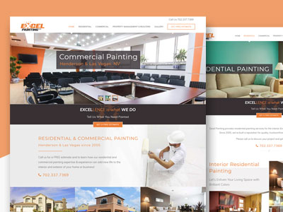 Excel Painting - Responsive Local Business Web Design