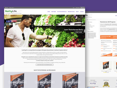 NattyLife - Responsive Ecommerce Website, Logo Design, Print & Digital Product Graphics Design, Content Writing