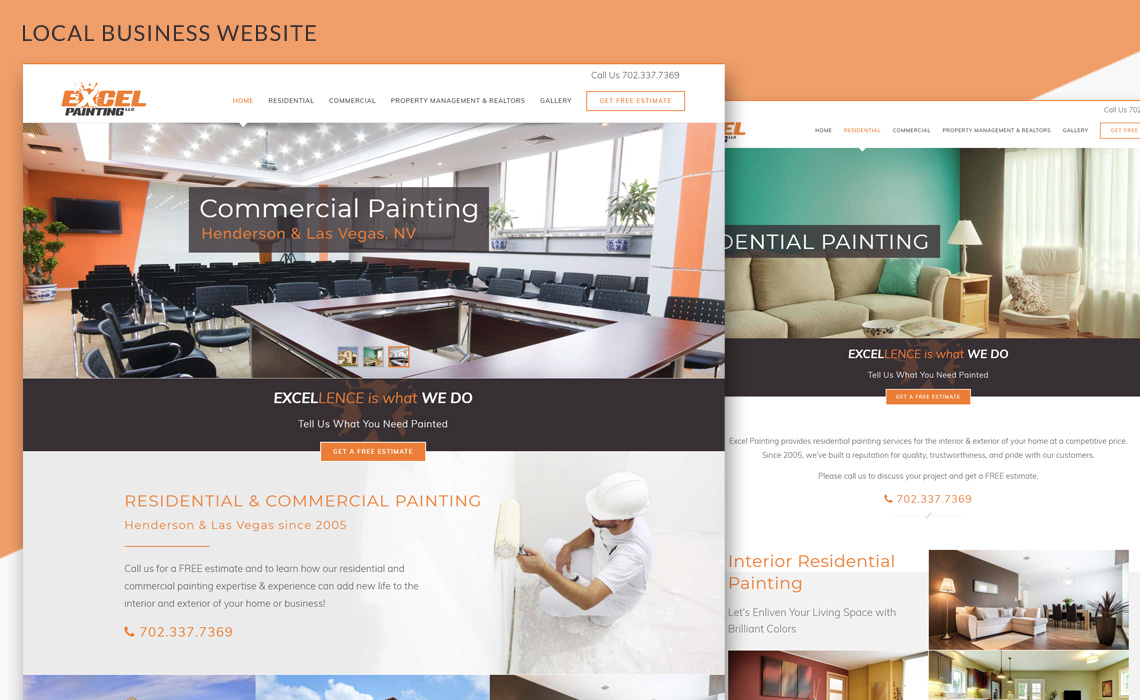 Excel Painting - Responsive Local Business Website Design