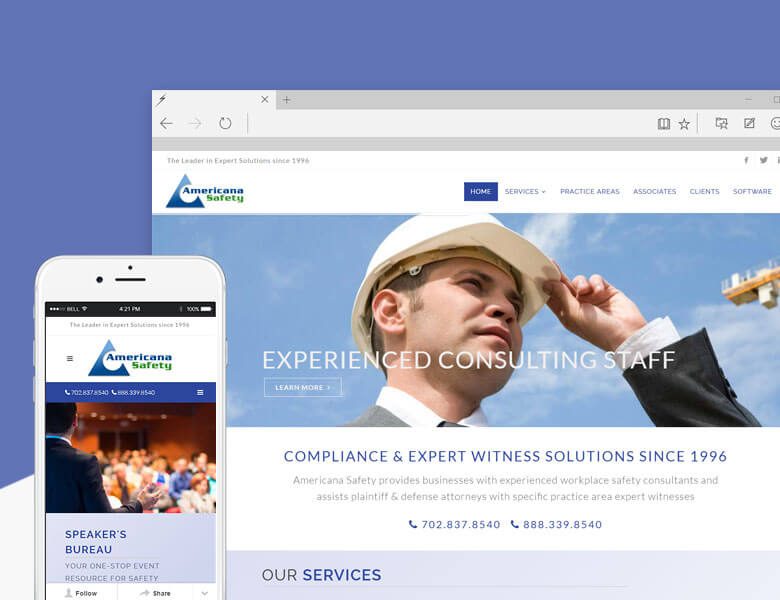 Americana Safety - SMB Responsive Web Design