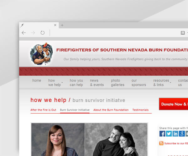 The Burn Foundation - Non-Profit Website Donations Payment page