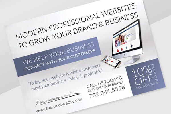 Snelling Web Development - Print & Digital Ad Marketing Design