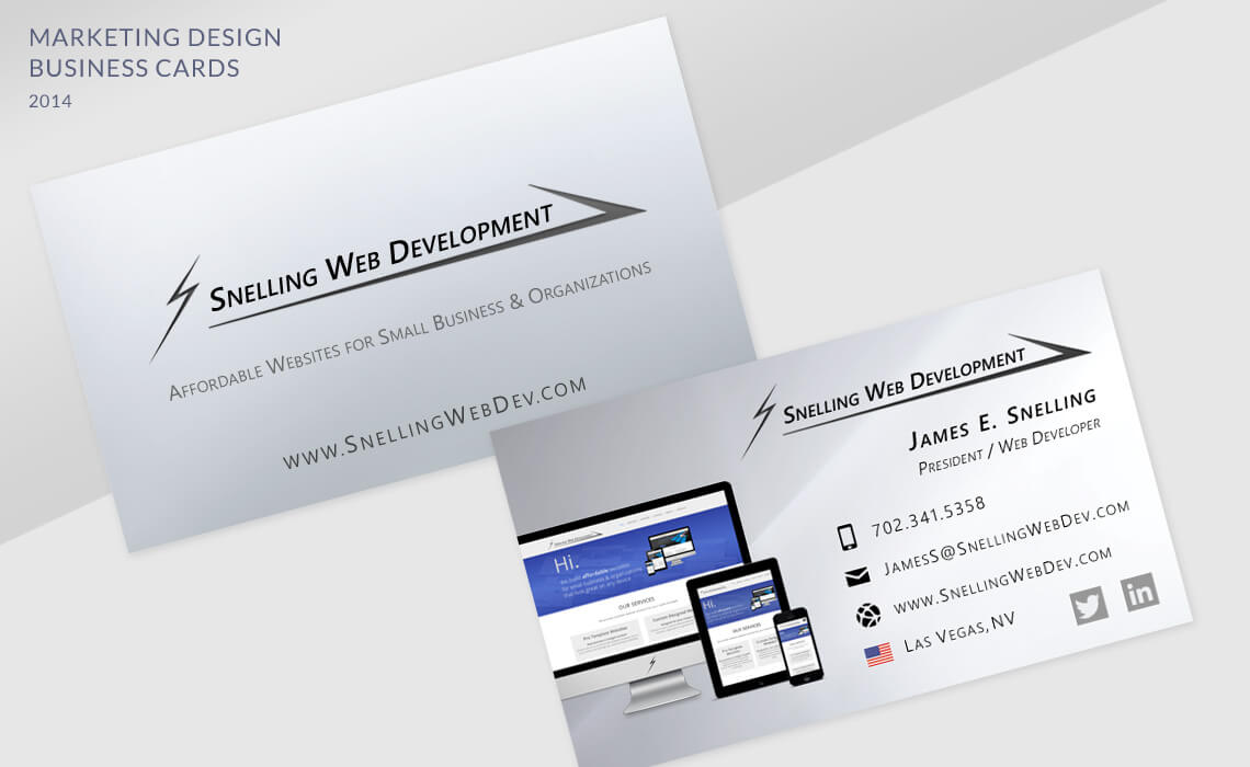 Snelling Web Development - Brand Collateral and Business Cards Design