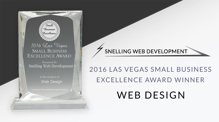 2016 Best of Las Vegas Award for Snelling Web Development in Web Design