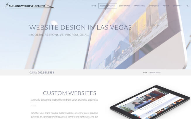 Responsive website page